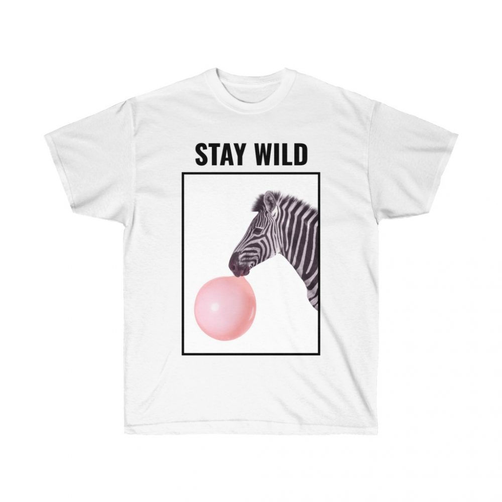Picture of Stay Wild White Colored Tshirt